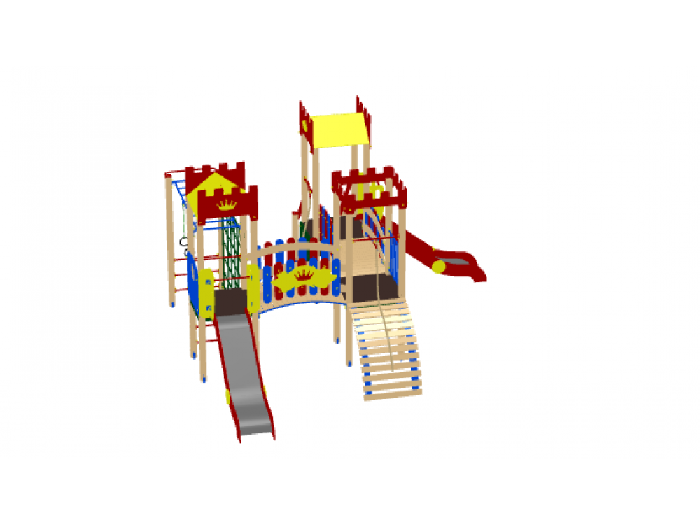 Детский игровой комплекс «Замок» ДИК 1802 H=1200 Новинка