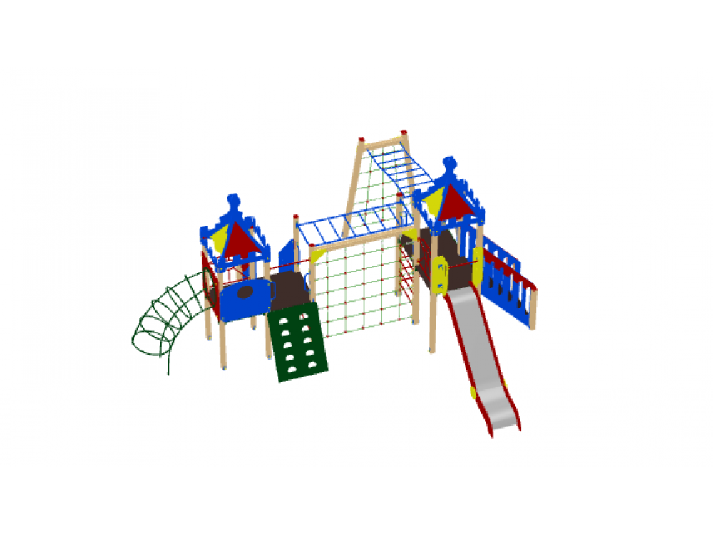 Детский игровой комплекс «Волшебный город» ДИК 1901 H=1500