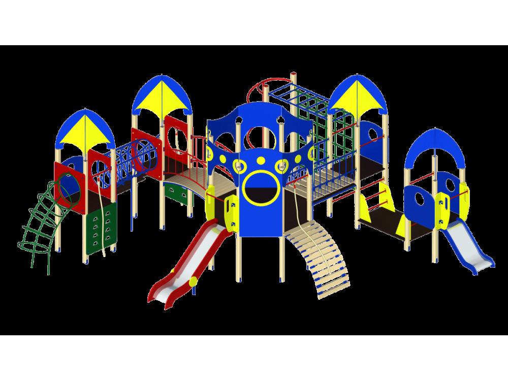 Детский игровой комплекс «Космопорт» ДИК 1403 H=750 H=1200