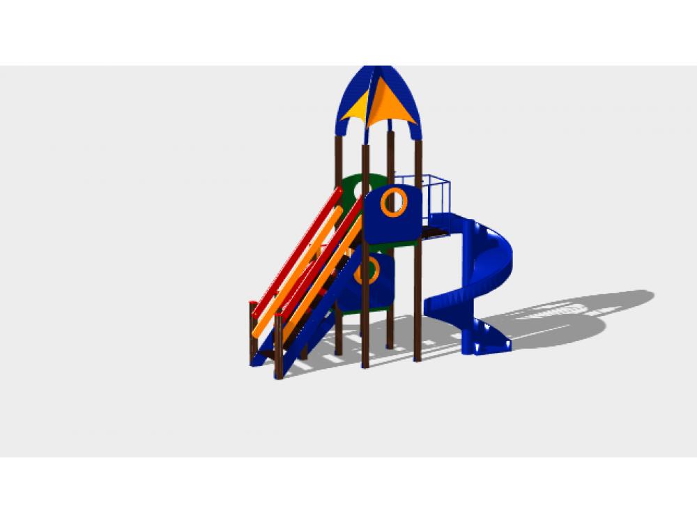 Детский игровой комплекс «Космопорт» ДИК 1404 H=750 H=2000