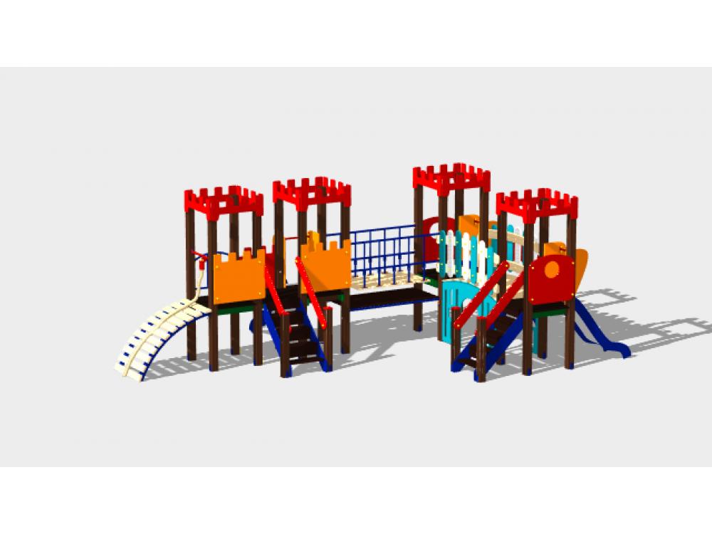Детский игровой комплекс «Королевство» ДИК 1504 H=900