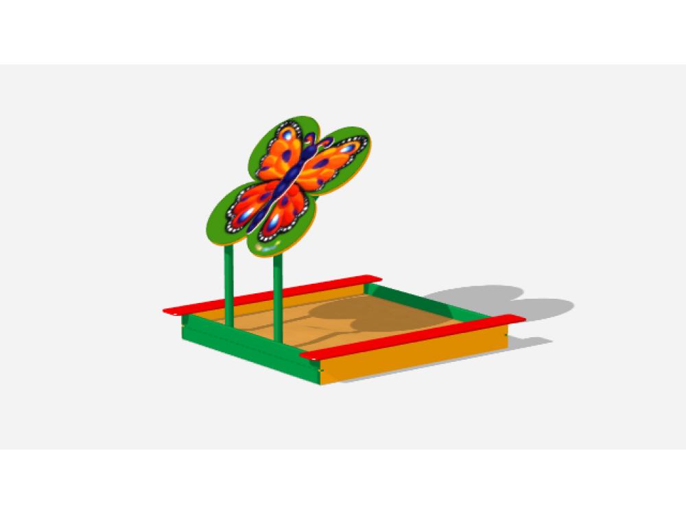 Песочница с навесом Забава-бабочка ИО 509