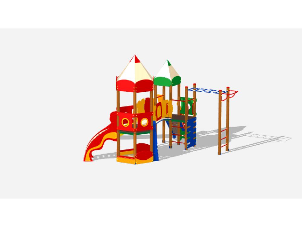 Детский игровой комплекс «Карандаши» ДИК 2603 Н=1200