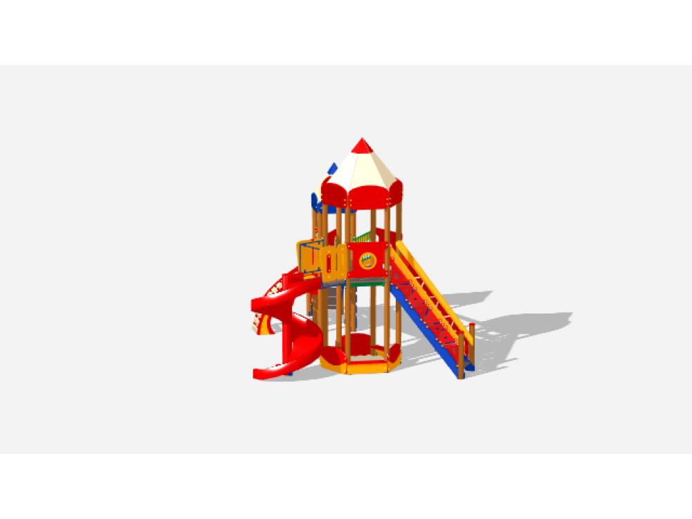 Детский игровой комплекс «Карандаши» ДИК 2605 Н=2000