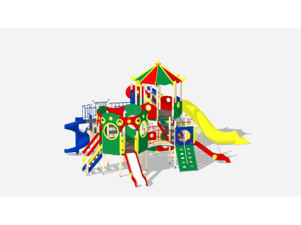 Детский Игровой комплекс «Карнавал ДИК 2205 H=2000, H=1200