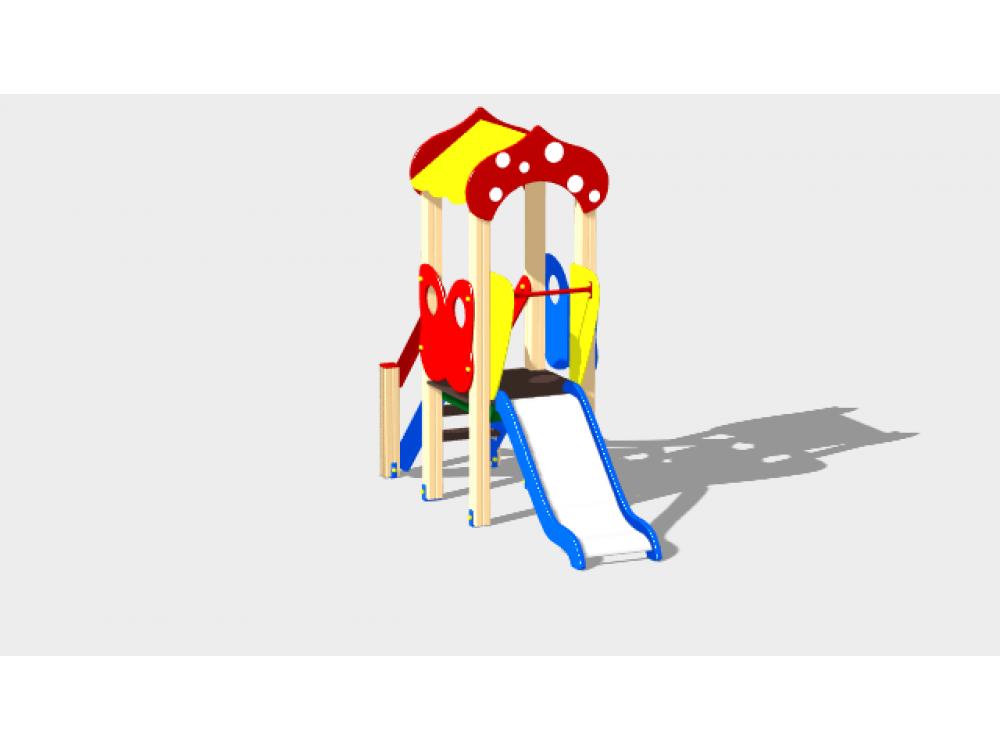 Детский игровой комплекс «Полянка» ДИК 1601 H=750