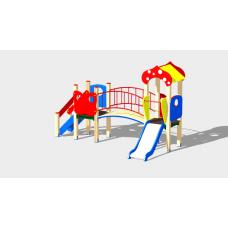Детский игровой комплекс «Полянка» ДИК 1603 H=750