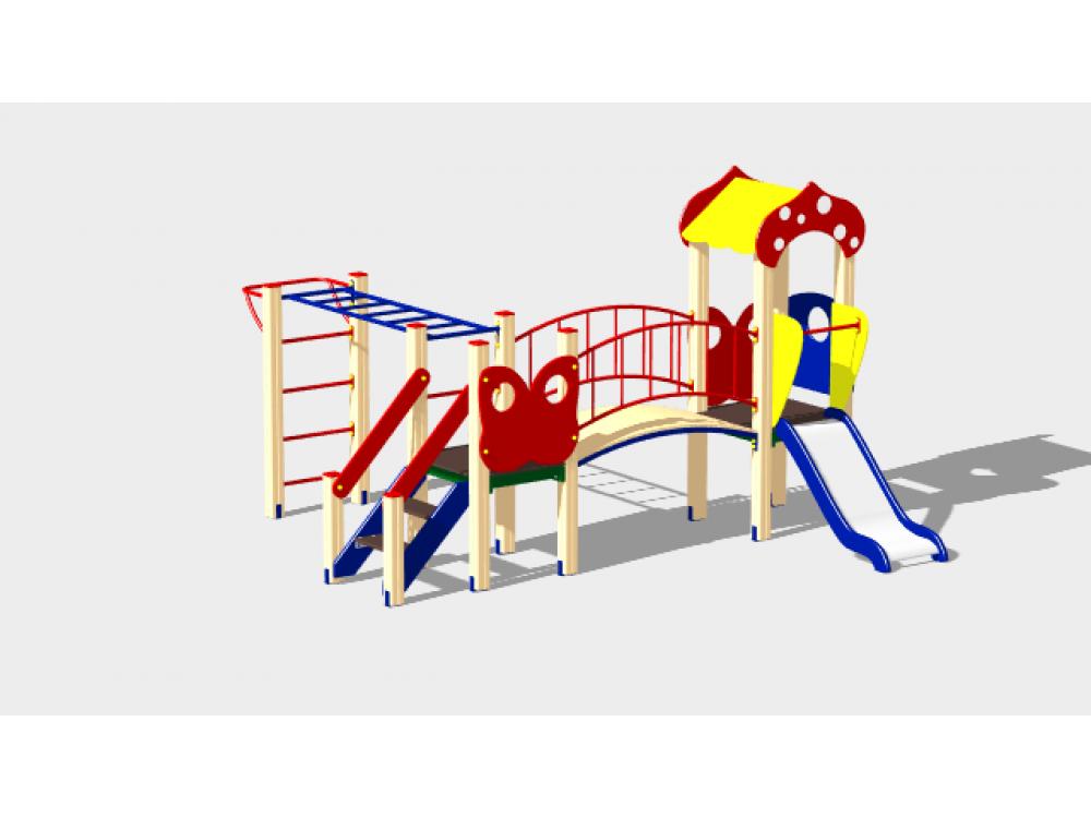 Детский игровой комплекс «Полянка» ДИК 1606 H=750