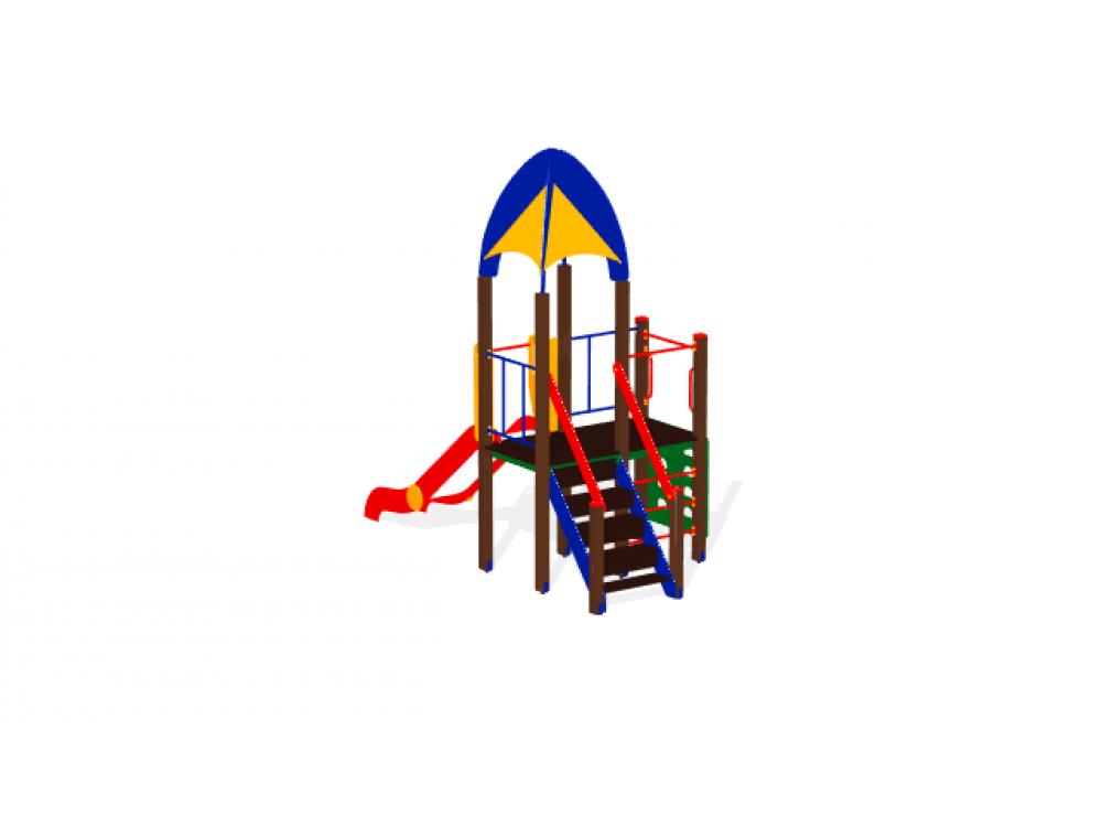 Детский игровой комплекс «Космопорт» ДИК 1408 H=1200