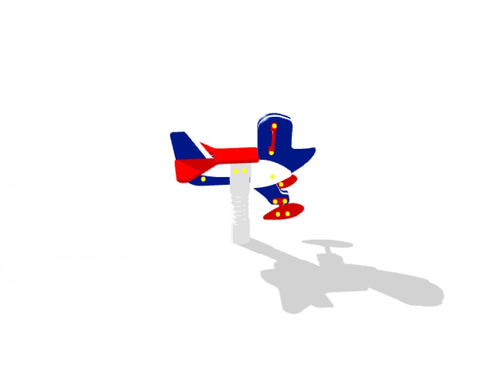 Качалка на пружине Самолетик ИО 245
