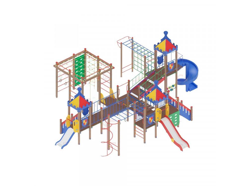 Детский игровой комплекс «Волшебный город» ДИК 1903 H=2000 H=1200 H=900