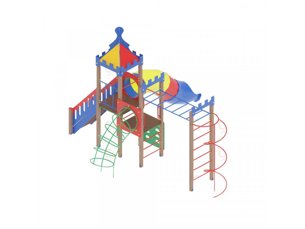 Детский игровой комплекс «Волшебный город» ДИК 1904 H=1500