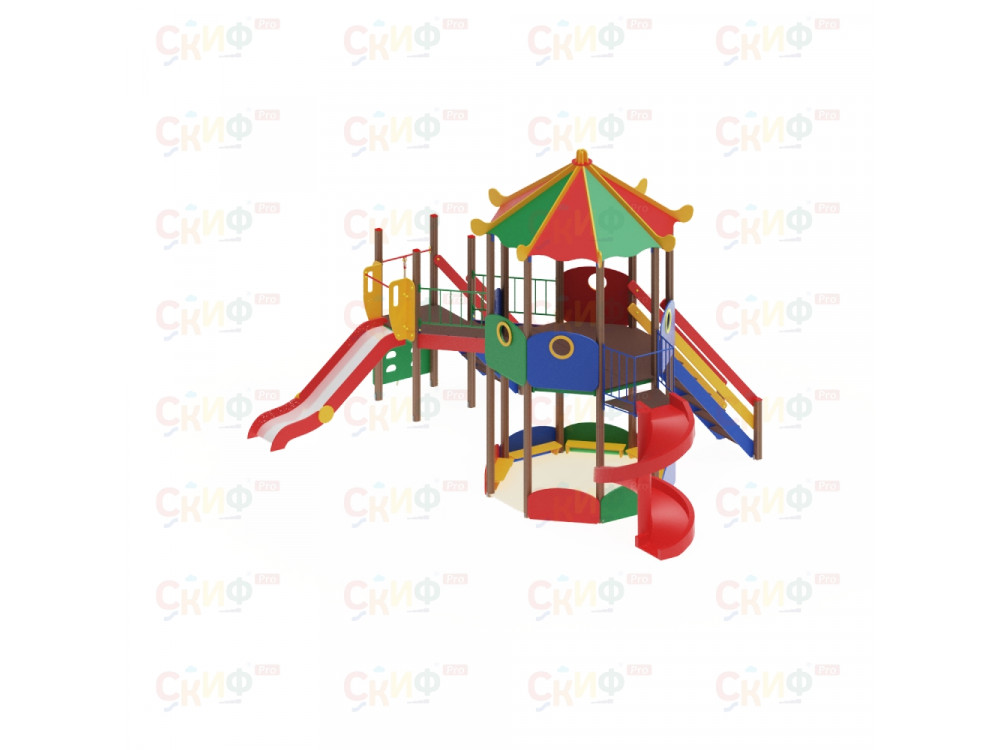 Детский Игровой комплекс «Карнавал ДИК 2202 H=2000, H=1200