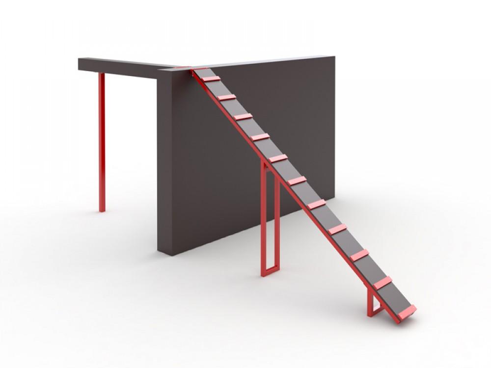 Препятствие «Забор с наклонной доской» J 113