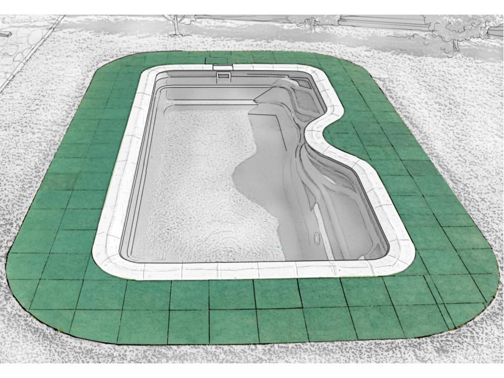 Rubblex Pool 500x500x20 мм