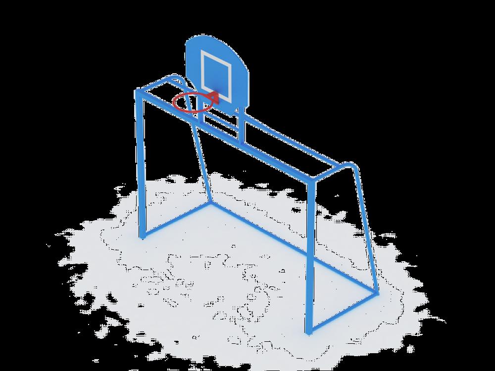 Ворота с баскетбольным щитом СО 603