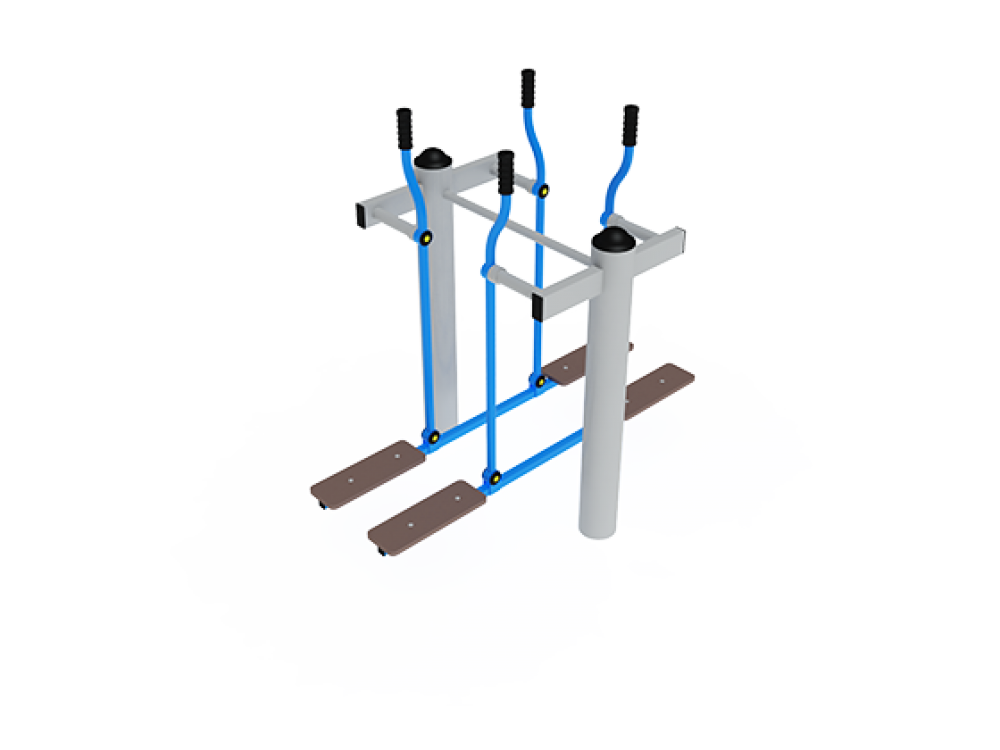 """Уличный тренажер """"Двойные лыжи"""" СТ 009"""