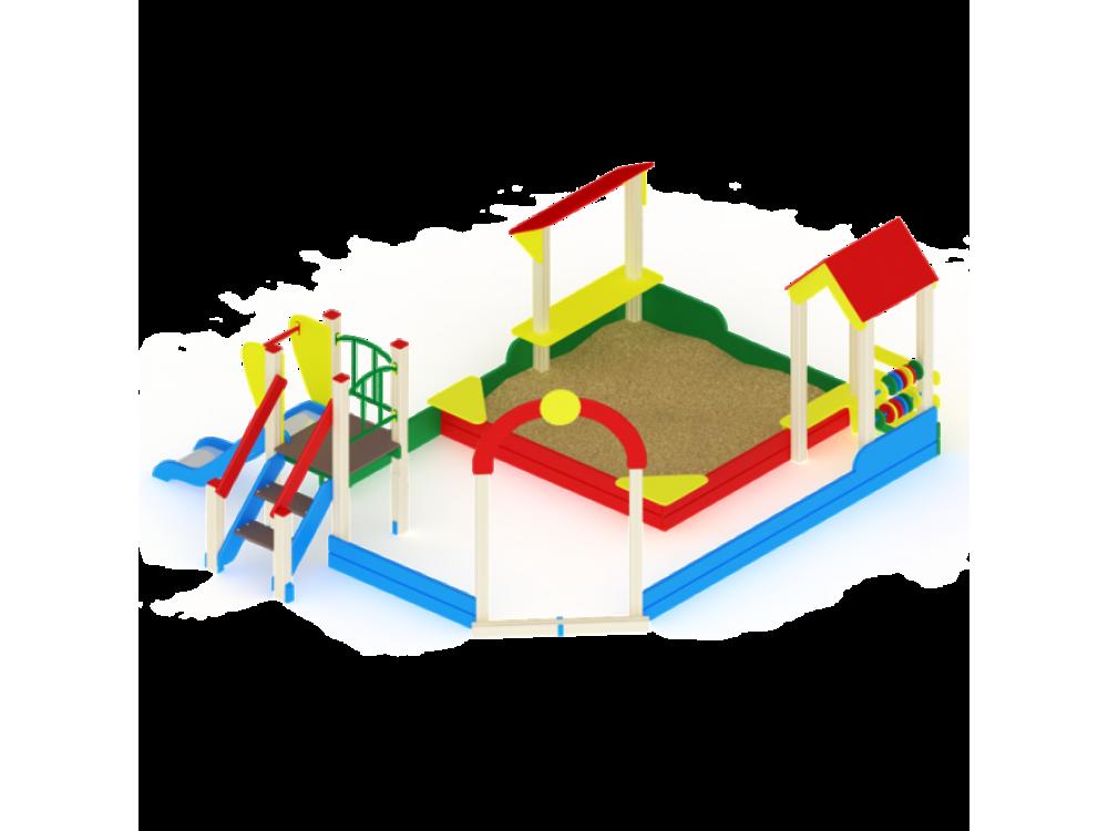 Песочный дворик с горкой ИО 540